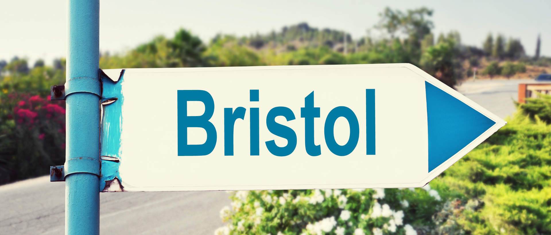 A sign for Bristol